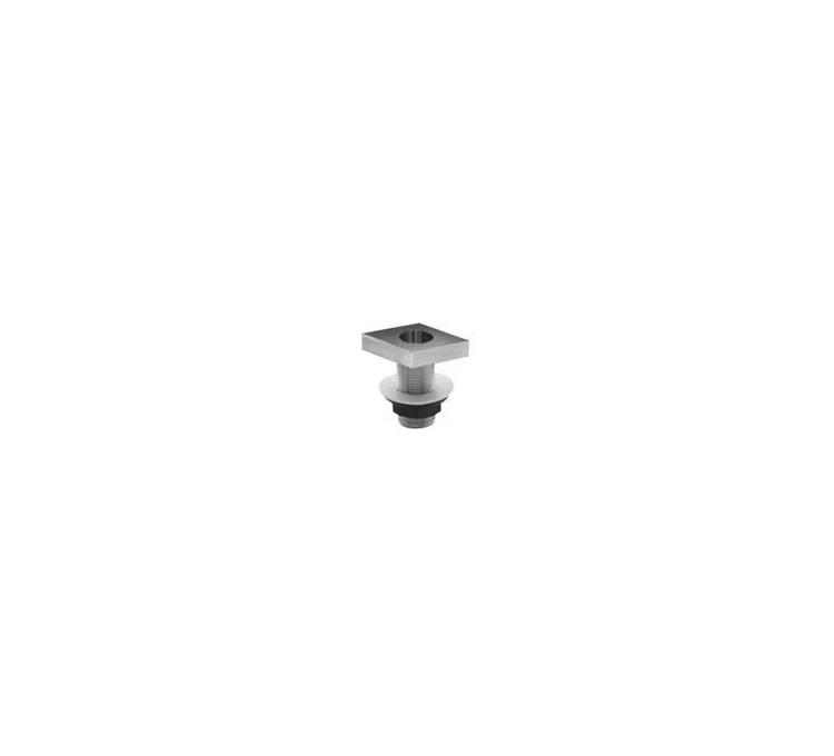 Supporto doccia cromato sul tavolo