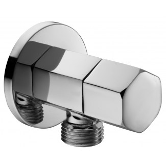Hexagonal stop valve for hygienic hand shower