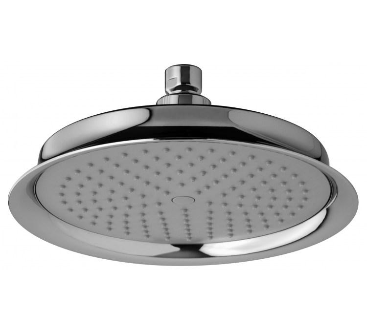Maxi soffione doccia in abs Neo-Retro con pioli antiliccio Ø200 mm