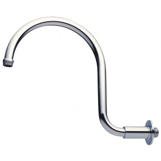 Chrome-plated gooseneck shower arm MM1 / 2