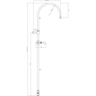 Ensemble colonne de douche rétro sur mitigeur avec inverseur