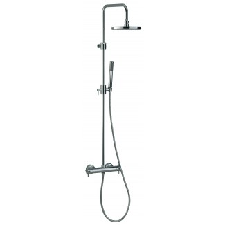 Minimalist shower column set on thermostatic
