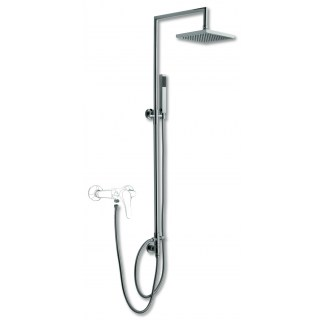 Chrome square shower column set