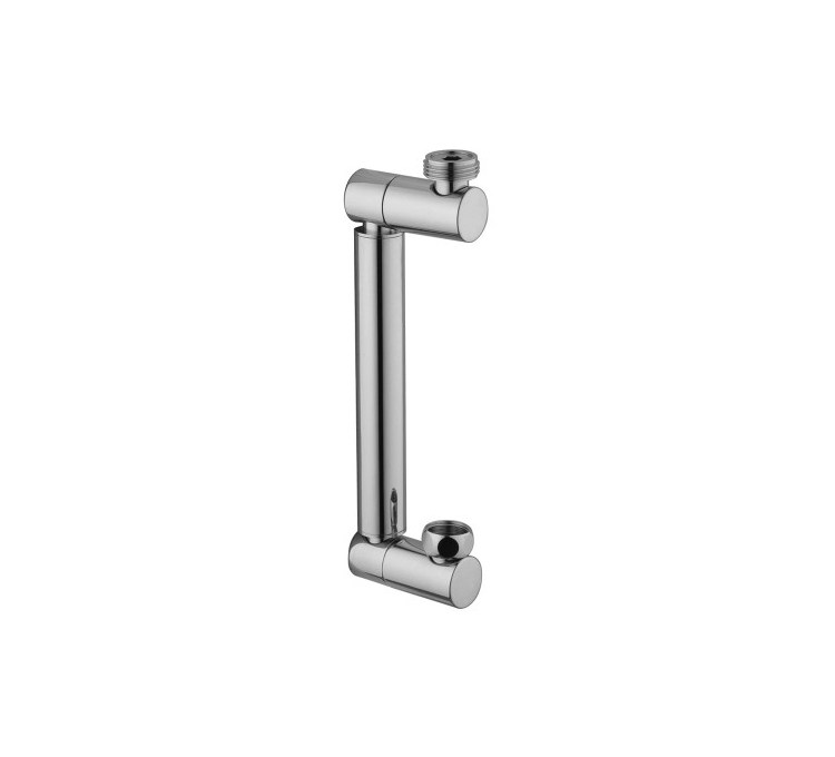 Soporte de columna de ducha de latón cromado ajustable M3 / 4