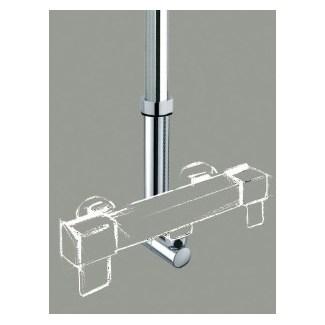 Support de colonne de douche reglable chromé L M 3/4