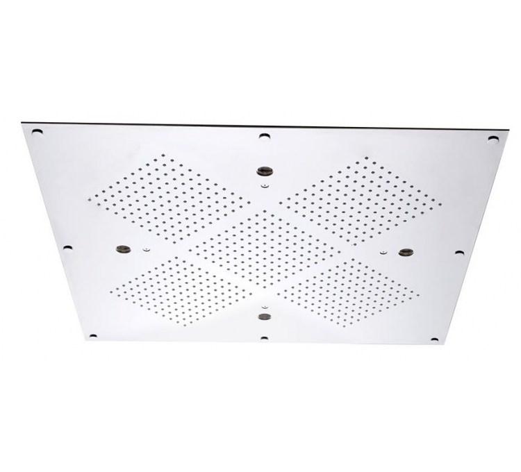 Soffione a soffitto con cromoterapia 610x610mm