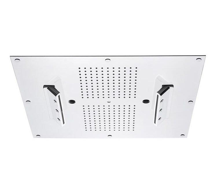 Soffione a soffitto con cromoterapia e nebbia 550X500 mm