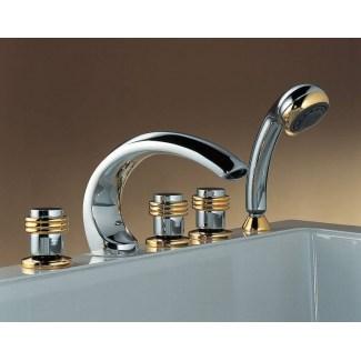 Batteria per vasca da bagno a 5 fori in ceramica Antares 1/4 di giro