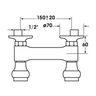 Mezclador de ducha de cerámica montado en la pared 1/4 vuelta