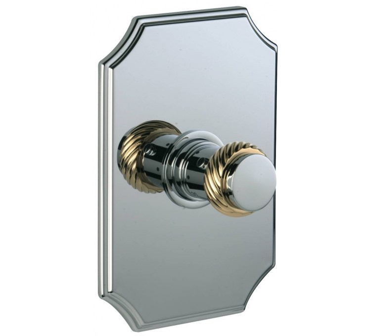 Thermostatic concealed tap without shut-off valve