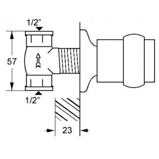 Llave de paso de pared termostática Ø65