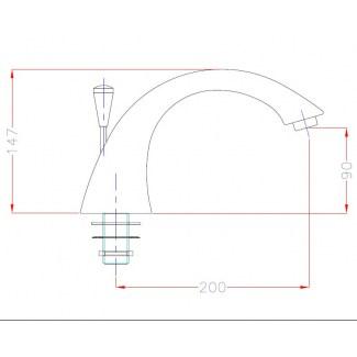 Bocchetta per lavabo Lem con deviatore Ø 73mm