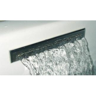Chromed brass bathtub wall cascade