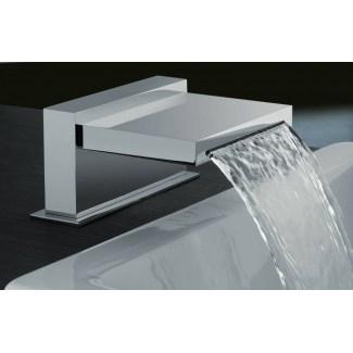 Caño de baño cromado ancho 150 mm