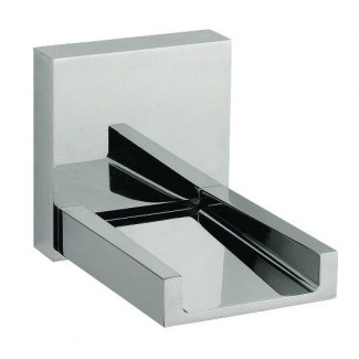 Chrome wall-mounted washbasin spout