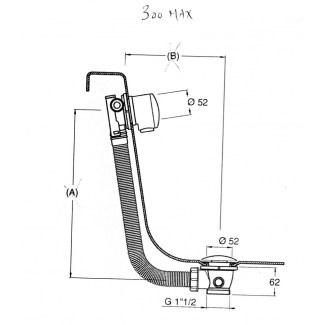 Drenaggio per vasca a cricchetto con riempimento