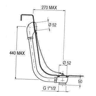 Drenaggio per la catena di design apparente della vasca