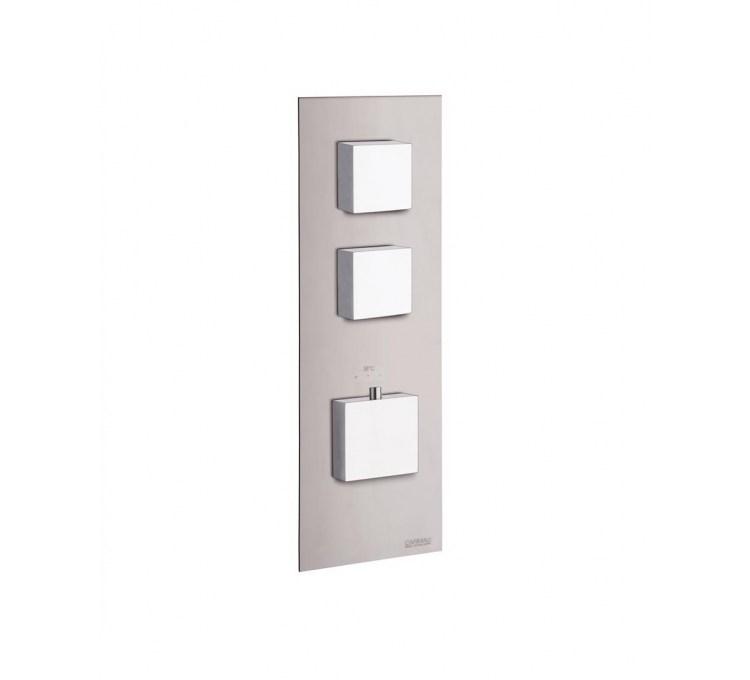 Blocchi quadrati termostatici a 2 uscite per doccia integrata