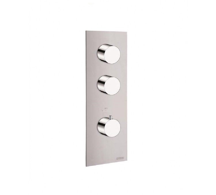 Thermostatic blocks round 2 outlets for built-in shower