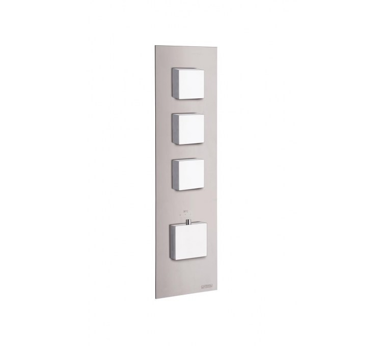 Thermostatic blocks Square 3 outlets for built-in shower