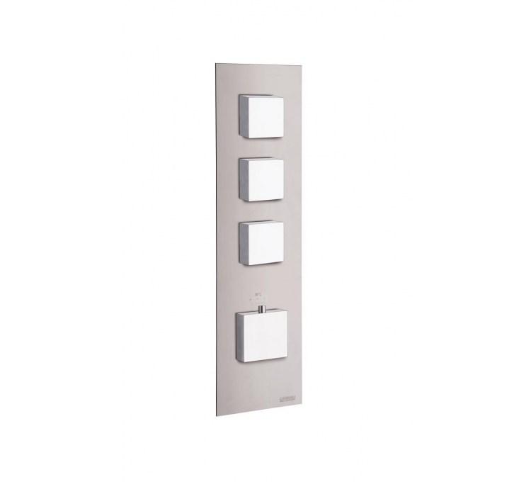 Blocchi termostatici Prese quadrate 3 per doccia incorporata