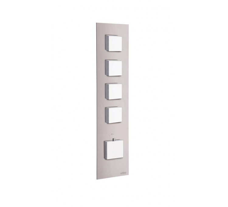 Thermostatic square blocks 4 outlets for built-in shower