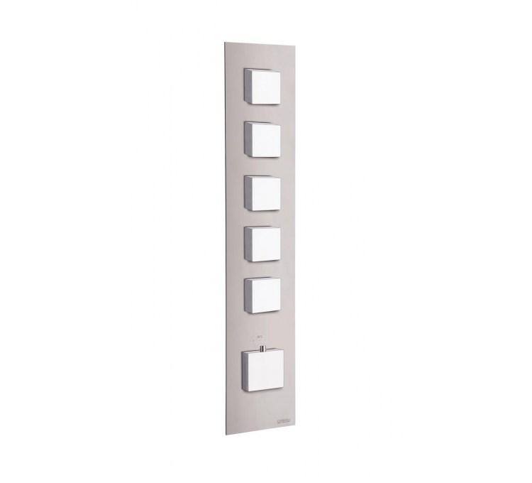 Blocchi termostatici quadrati 5 uscite per doccia integrata