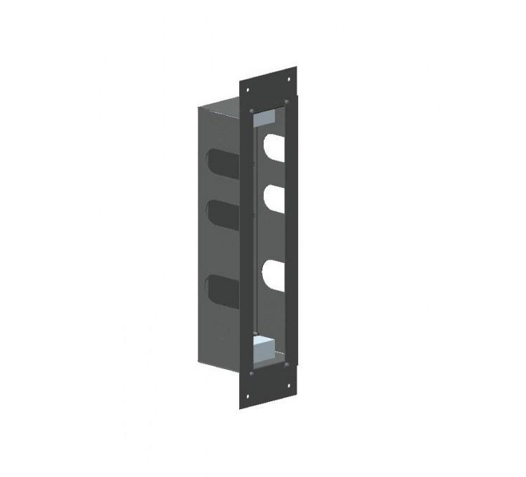 Installationsbox aus Edelstahl für Thermostatblock mit 2 Auslässen
