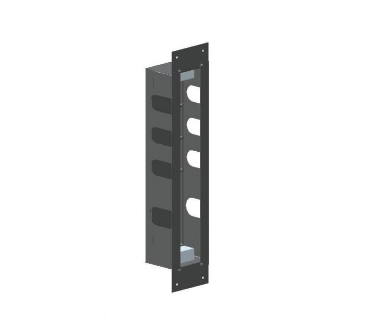 Scatola di installazione in acciaio inox per blocco termostatico 3 uscite