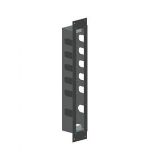 Caja empotrable de acero inoxidable para bloque termostático 5 salidas