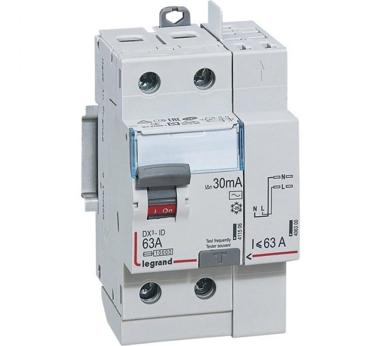 Interrupteur différentiel LEGRAND, 30 mA 63 A AC