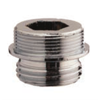 Chrome-plated spigot adapter nipple with seal