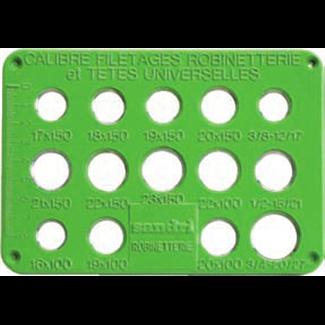 Placa de control de rosca de cabeza