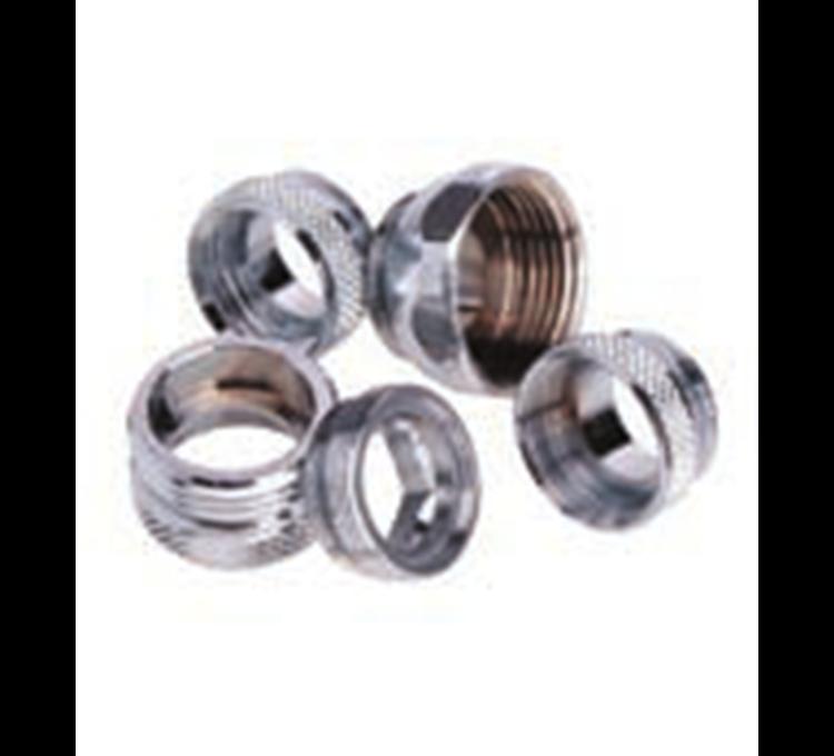 Nipple chrome fitting adapter