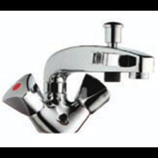 Single-hole bath-shower inverter with automatic return