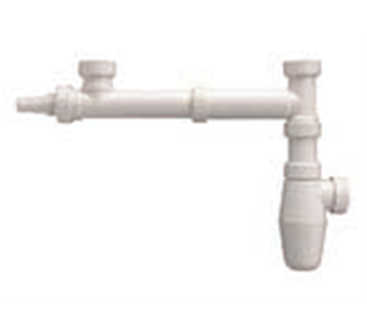 Desagüe para fregadero de 2 recipientes en polipropileno