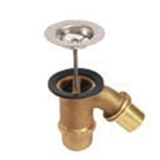 "Sink Sink Brass 1 ""1/2 exit oblique"