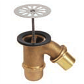 "Sliding outlet brass sink siphon with grid 1 ""1/2"
