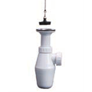 """1 """"1/4 sink siphon with stopper"""