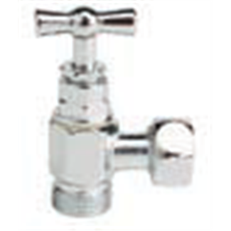 Válvula de cierre para inodoro 3/8 con cabezal de prensaestopas.