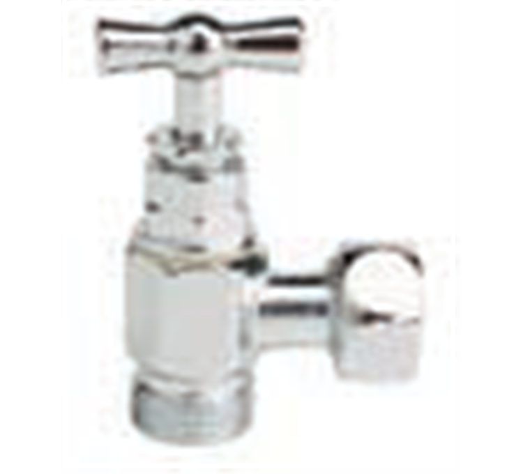 Stop valve for flush toilet 3/8 with cable gland head.